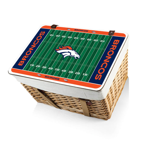 The Denver Broncos Canasta Grande NFL Basket - Picnic Time 119-00-190-104-2