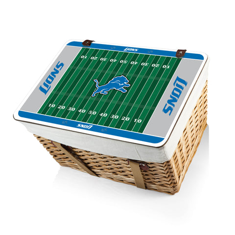 The Detroit Lions Canasta Grande NFL Basket - Picnic Time 119-00-190-114-2