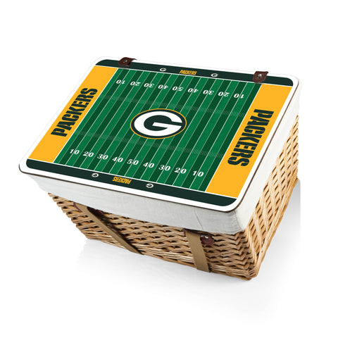 The Green Bay Packers Canasta Grande NFL Basket - Picnic Time 119-00-190-124-2