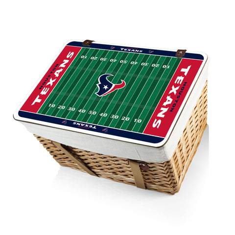 The Houston Texans Canasta Grande NFL Basket - Picnic Time 119-00-190-134-2