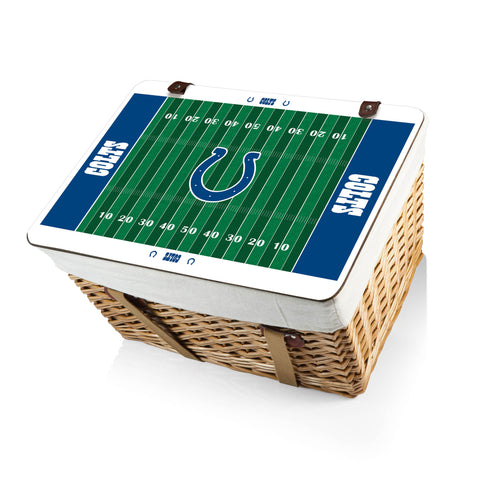 The Indianapolis Colts Canasta Grande NFL Basket - Picnic Time 119-00-190-144-2
