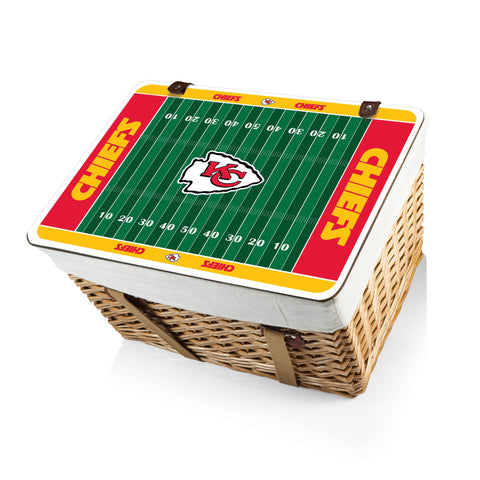 The Kansas City Chiefs Canasta Grande NFL Basket - Picnic Time 119-00-190-164-2