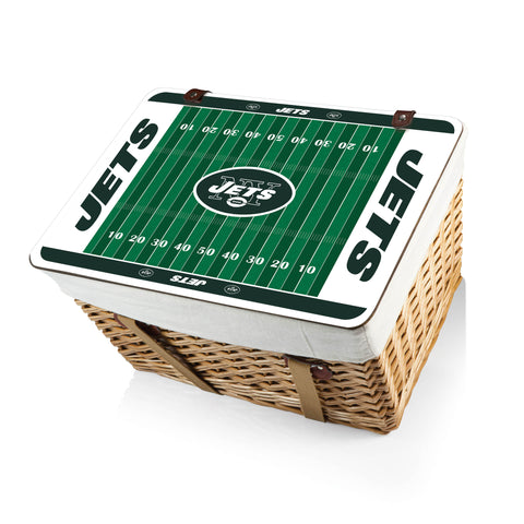 The New York jets Canasta Grande NFL Basket - Picnic Time 119-00-190-224-2