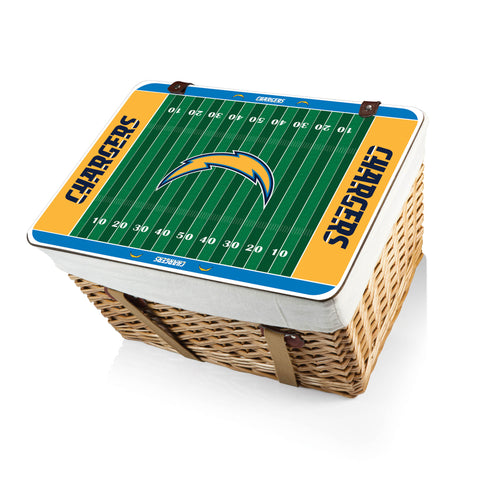 The San Diego Chargers Canasta Grande NFL Basket - Picnic Time 119-00-190-264-2