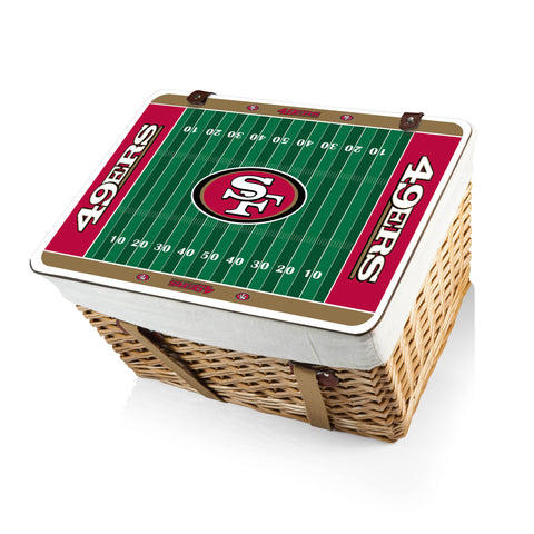 The San Francisco 49ers Canasta Grande NFL Basket - Picnic Time 119-00-190-274-2