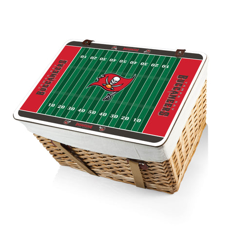The Tampa Bay Buccaneers Canasta Grande NFL Basket - Picnic Time 119-00-190-304-2