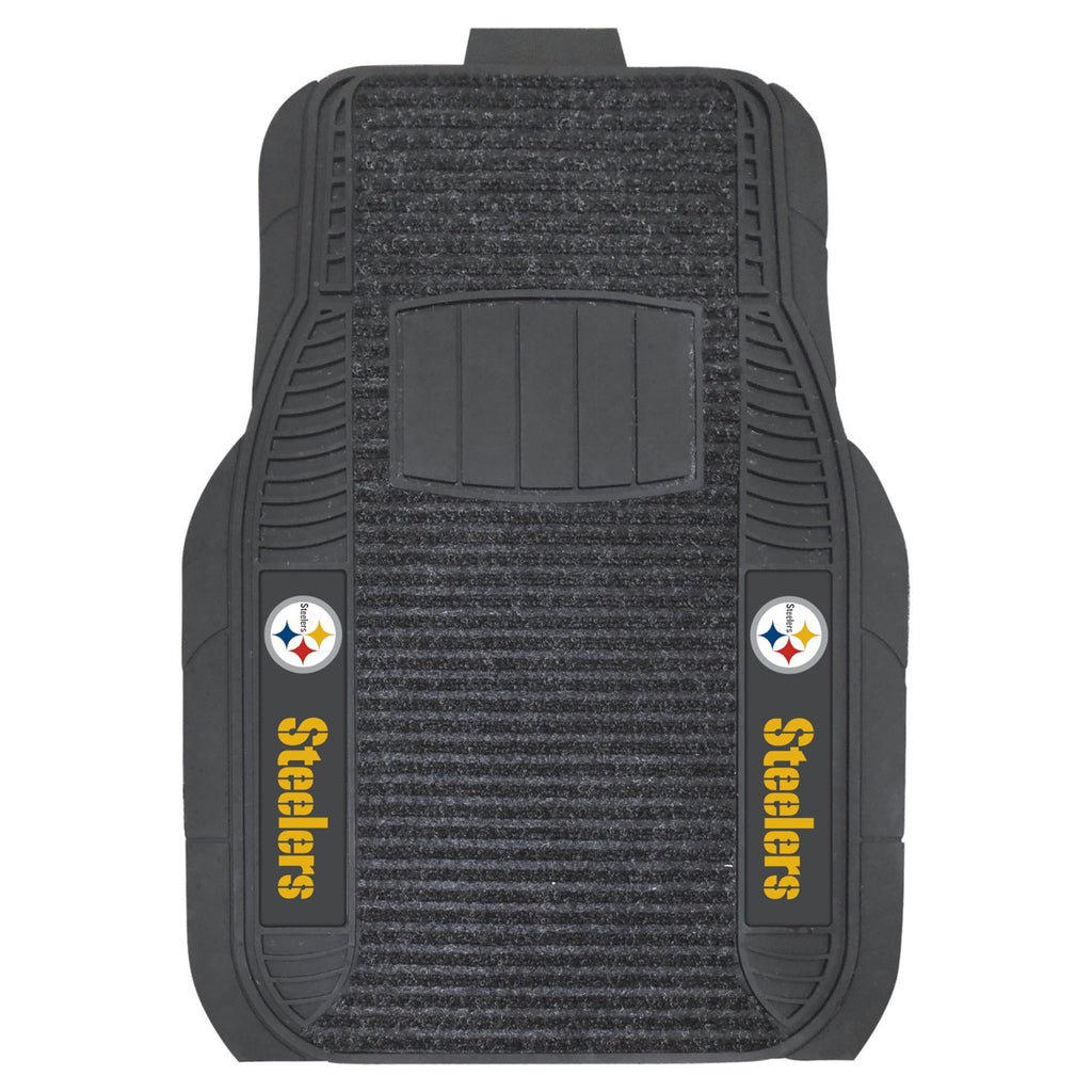 The Pittsburgh Steelers Deluxe Auto Floor Mat Set - FanMats 13786