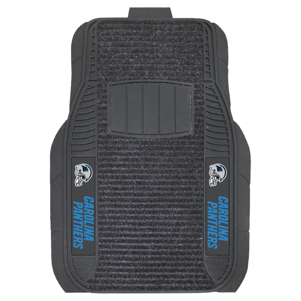The Carolina Panthers Deluxe Auto Floor Mat Set - FanMats 13801