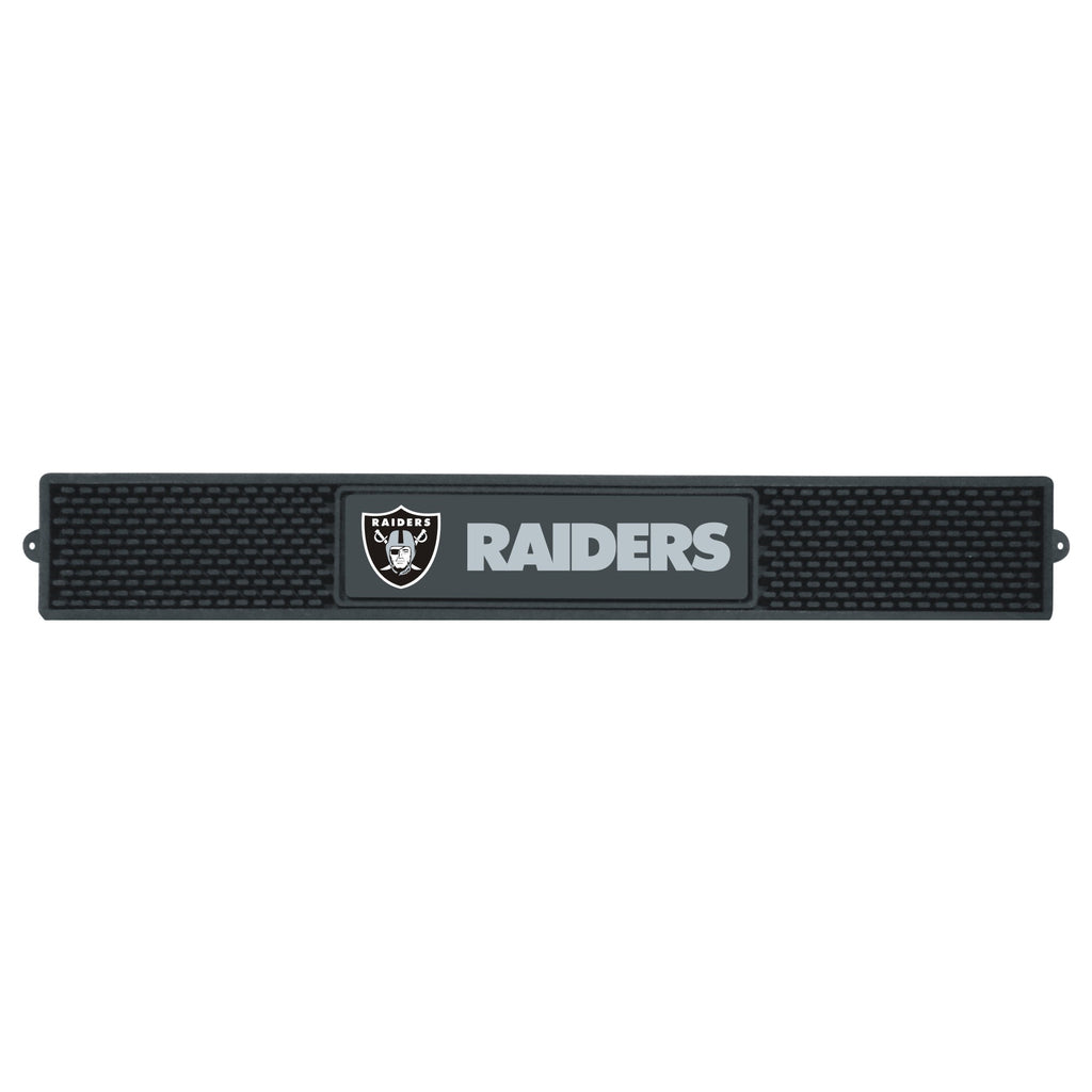 "Drink  Mat (3.25""x24"") - Oakland Raiders"