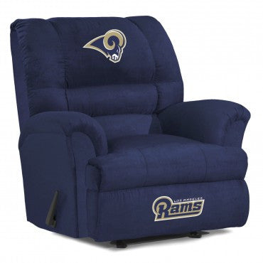 Los Angeles Rams  Big Daddy Reclining Chair for Mans Caves and fan recliners