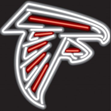 Atlanta Falcons Sign - Neon Glass Bulbs