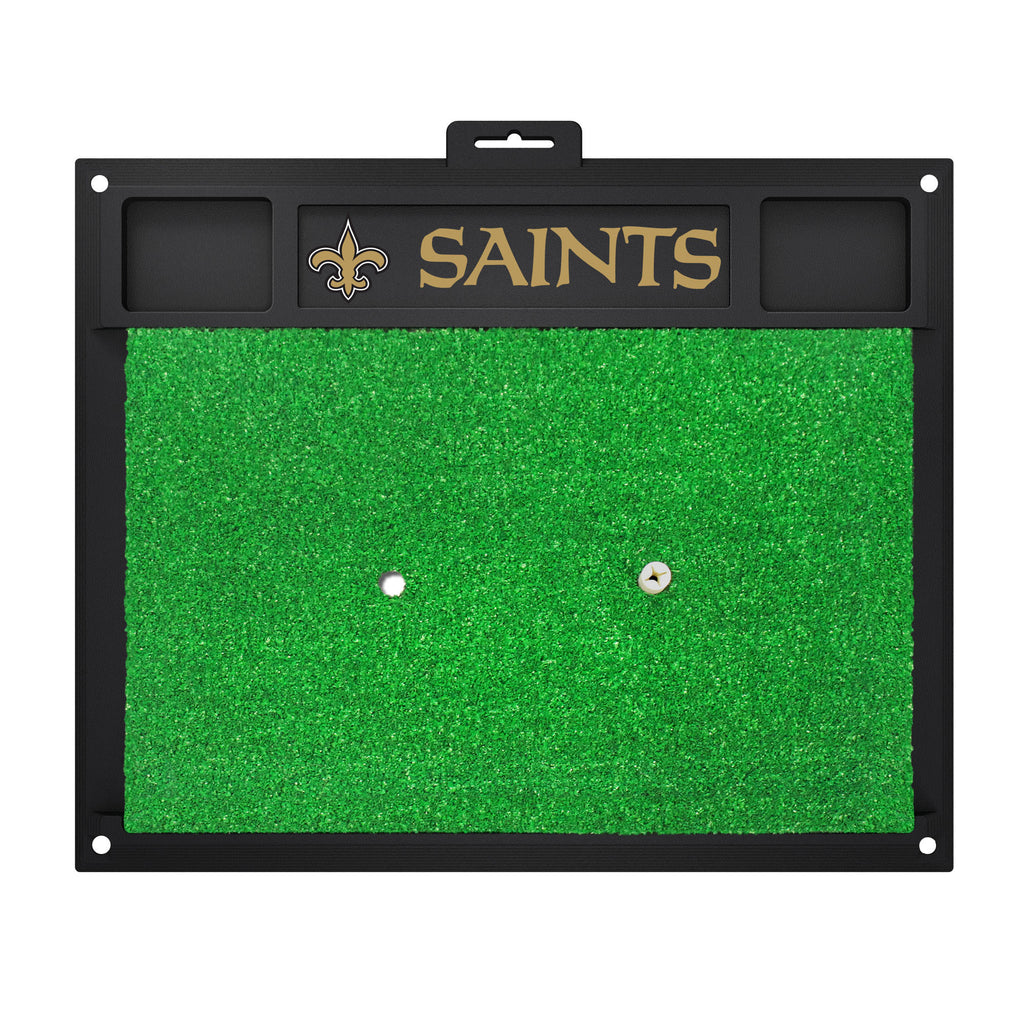 Golf Hitting Mat - New Orleans Saints