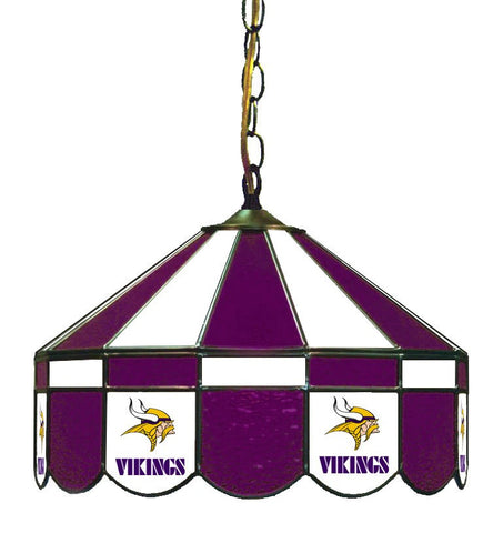 "Minnesota Vikings 16"" Glass Lamp for fan cave, man caves and gaming rooms"