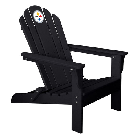 The Pittsburgh Steelers Black Folding Adirondack Chair Imperial 180-1004