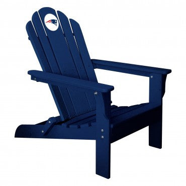 The New England Patriots Blue Folding Adirondack Chair Imperial 180-1011