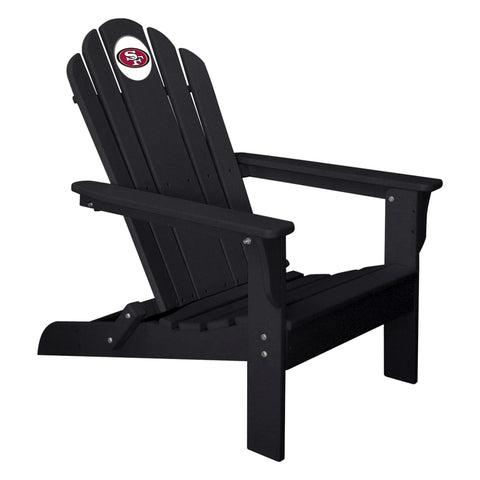 The San Francisco 49Ers Black Folding Adirondack Chair Imperial 180-1105