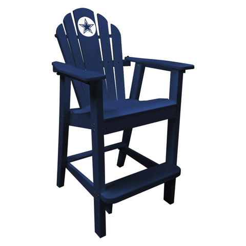 The Dallas Cowboys Blue Captains Pub Chair - Imperial181-1002