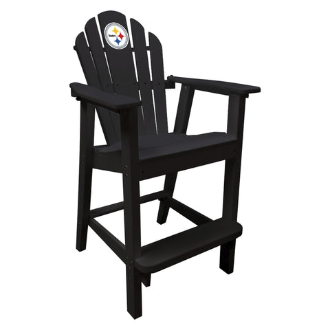The Pittsburgh Steelers Black Captains Pub Chair - Imperial181-1004