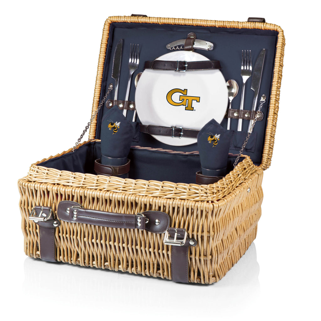 Georgia Tech Yellow Jackets Champion Picnic Basket