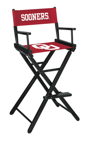 The Oklahoma Bar Height Directors Chair for Sooners Man Caves
