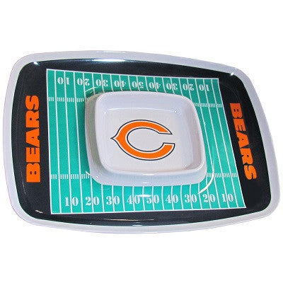 The Chicago Bear Chip and Dip Tray with the Bears NFL Logo