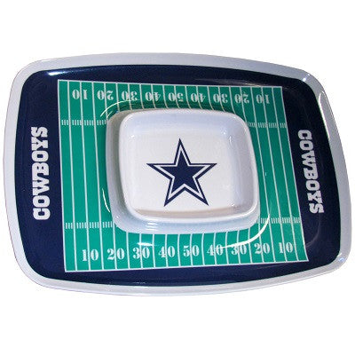 The Dallas Cowboy Chip and Dip Tray with the Cowboys NFL Logo
