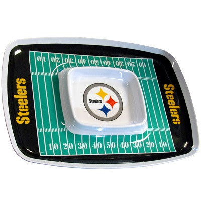 The Pittsburgh Steeler Chip and Dip Tray with the Steelers NFL Logo