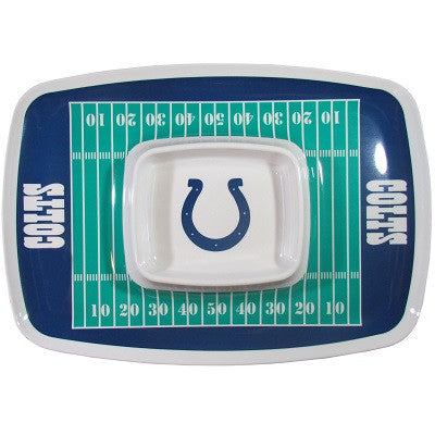 The Indianapolis Colt Chip and Dip Tray with the Colts NFL Logo