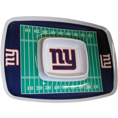 The New York Giant Chip and Dip Tray with the Giants NFL Logo