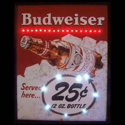 Neonetics 3BUD25 Budweiser Served Here 25 Cent Led Poster
