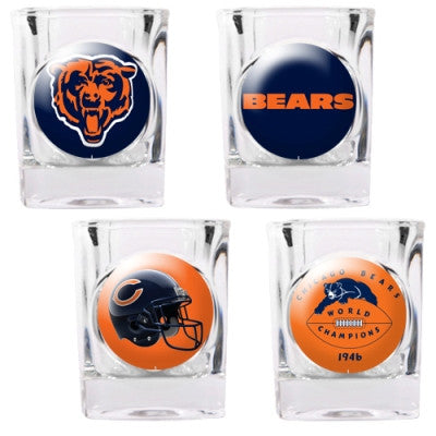 The Bears Collector Shot Glass set - 4 pcs for Chicago Bear fans