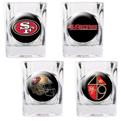 The 49ers Collector Shot Glass set - 4 pcs for San Francisco 49er fans