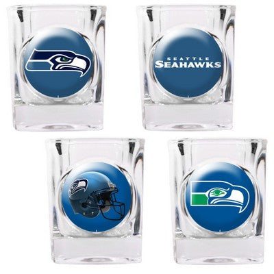 The Seahawks Collector Shot Glass set - 4 pcs for Seattle Seahawk fans