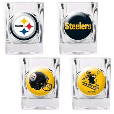 The Steelers Collector Shot Glass set - 4 pcs for Pittsburgh Steeler fans