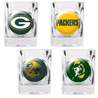 The Packers Collector Shot Glass set - 4 pcs for Green Bay Packer fans