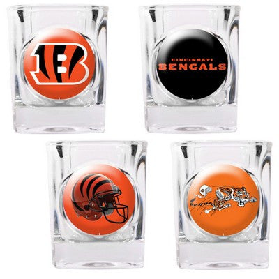 The Bengals Collector Shot Glass set - 4 pcs for Cincinnati Bengal fans