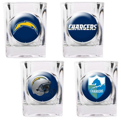 The Chargers Collector Shot Glass set - 4 pcs for San Diego Charger fans