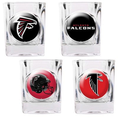 The Falcons Collector Shot Glass set - 4 pcs for Atlanta Falcon fans
