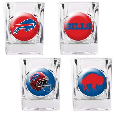 The Bills Collector Shot Glass set - 4 pcs for Buffalo Bill fans