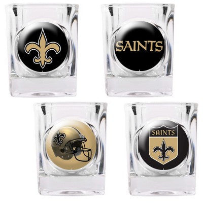 The Saints Collector Shot Glass set - 4 pcs for New Orleans Saint fans