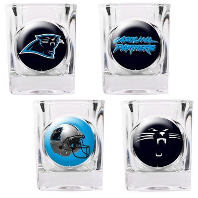 The Panthers Collector Shot Glass set - 4 pcs for Carolina Panther fans