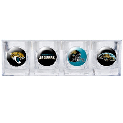 The Jaguars Collector Shot Glass set - 4 pcs for Jacksonville Jaguar fans