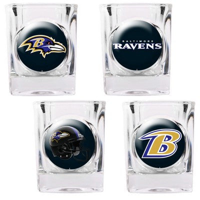 The Ravens Collector Shot Glass set - 4 pcs for Baltimore Raven fans
