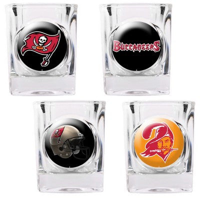 The Buccaneers Collector Shot Glass set - 4 pcs for Tampa Bay Buccaneer fans