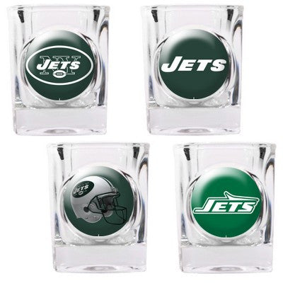 The Jets Collector Shot Glass set - 4 pcs for New York Jet fans