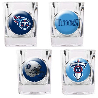 The Titans Collector Shot Glass set - 4 pcs for Tennessee Titan fans