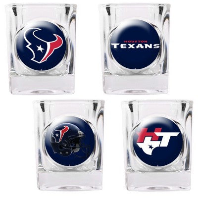 The Texans Collector Shot Glass set - 4 pcs for Houston Texan fans