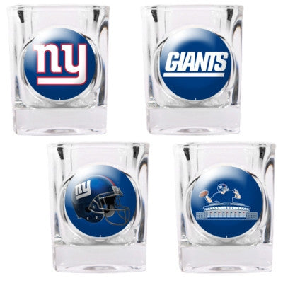 The Giants Collector Shot Glass set - 4 pcs for New York Giant fans