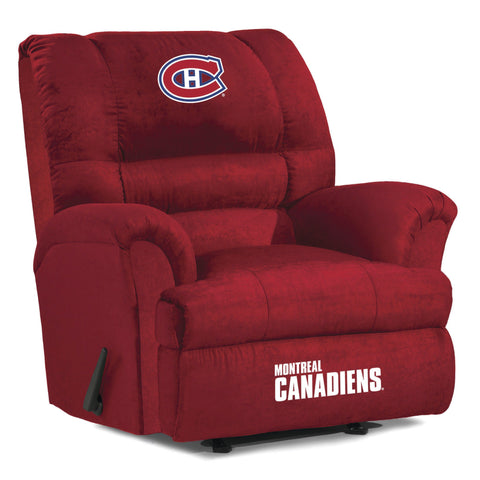 Montreal Canadiens Big Daddy Reclining Chair for Mans Caves and fan recliners