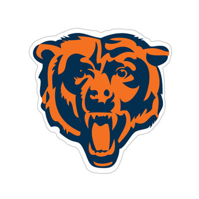 Chicago Bear Die Cut Perforated Window Decal Film in Bears fan gear